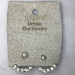 Urban Outfitters Faux Opal Ear Jacket Earrings